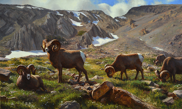 Featured Artist, Kyle Sims (4) Montana Heights shot2 30x50 Oil 2013 $15,400