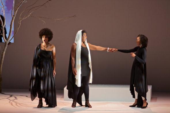 L-R: Alicia Hall Moran, Imani Uzuri, and Eisa Davis.