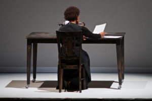 Writer, Director, and Performer Carrie Mae Weems.